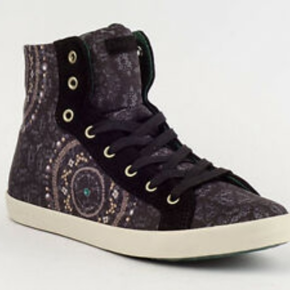"""Desigual Shoes - Desigual """" Roby"""" High Top Fashion Sneaker"""